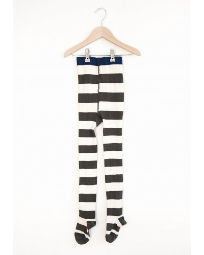 TIGHTS BLACK & WHITE STRIPES