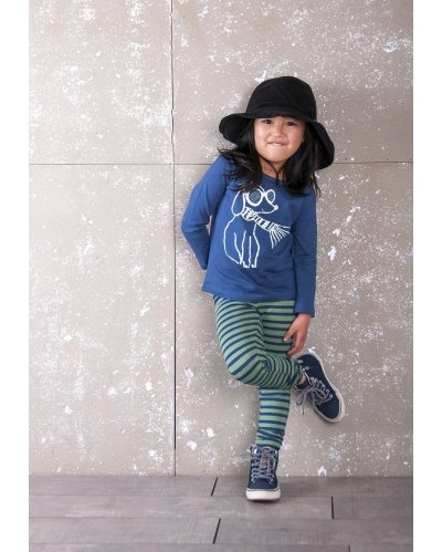 LEGGINGS GREEN STRIPES