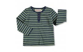 BUTTONED GREEN STRIPES