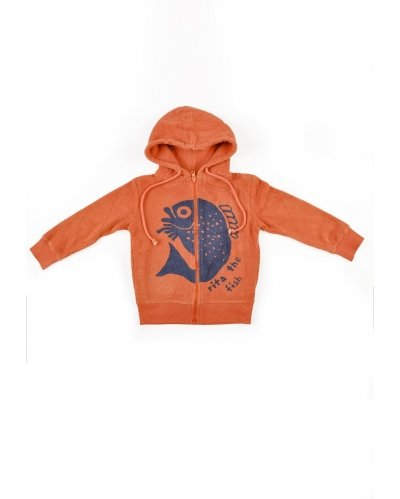 SUDADERA CON CAPUCHA RITA THE FISH