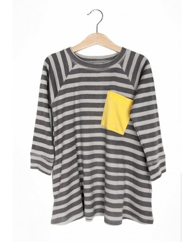 VESTIDO GREY STRIPES