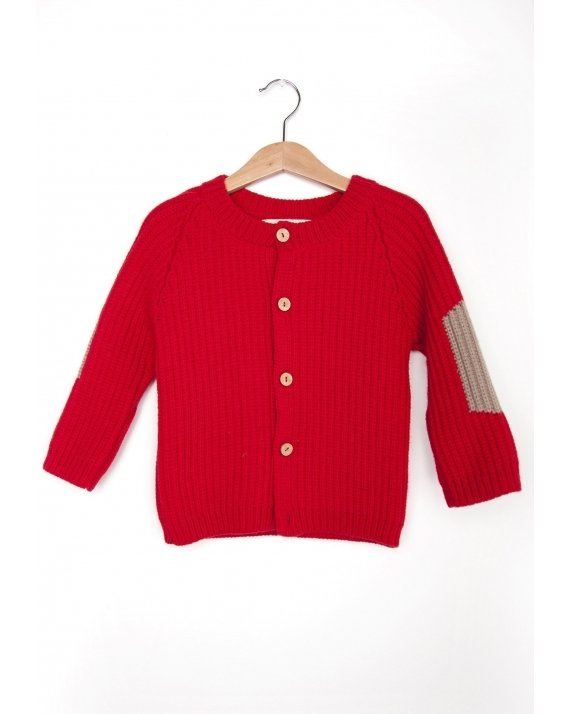 CARDIGAN BASIC RED