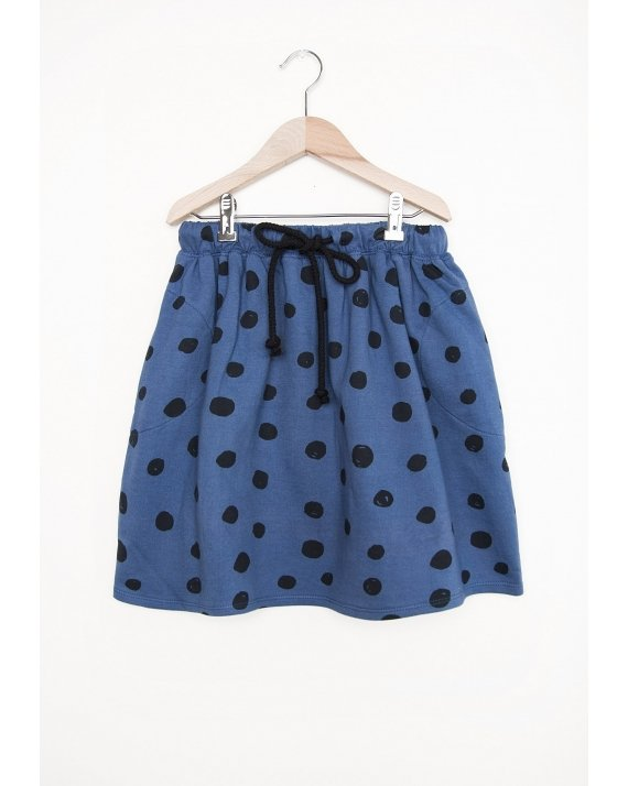 SKIRT BLUE DOTS