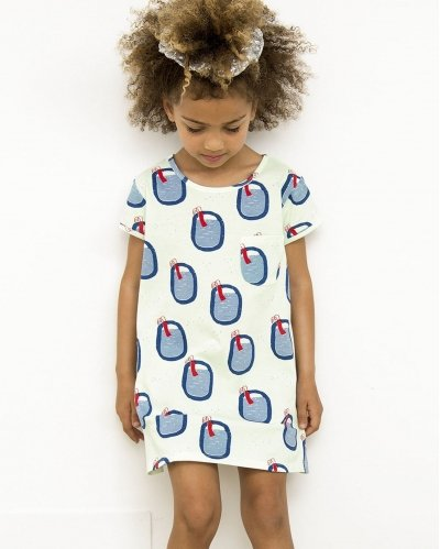 Vestido Manga Corta Swimming Pools