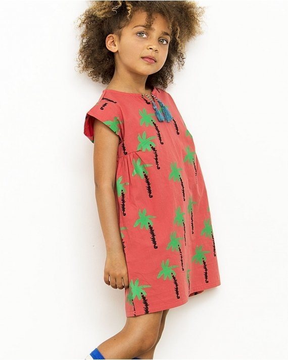 Dress Palmtrees In Red