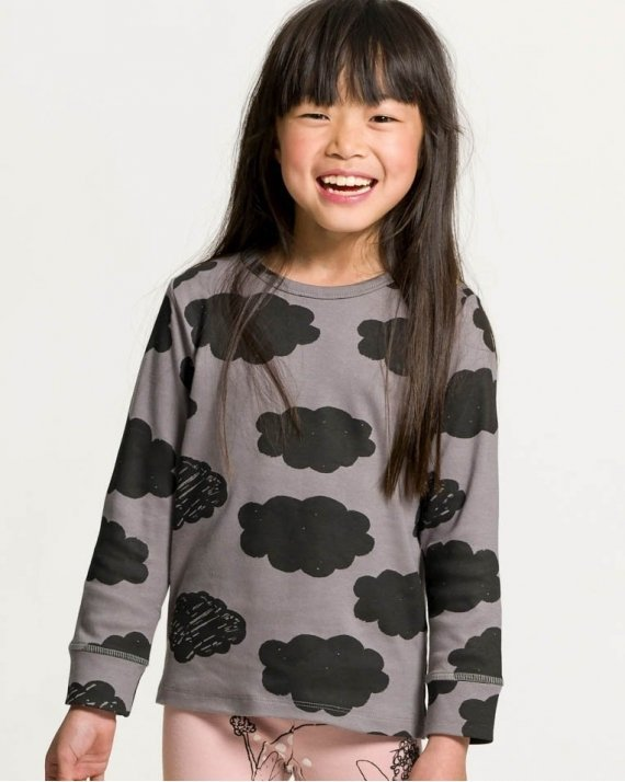 Clouds Grey Long Sleeve T-shirt