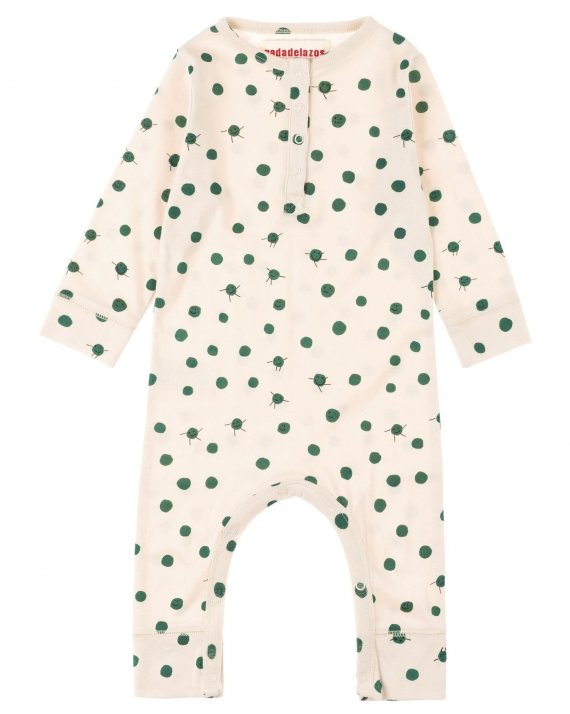 Green Peas Long Sleeve Romper