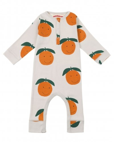 Happy Oranges Long Sleeve Romper