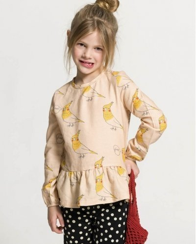 Pitti Bird Flannel Blouse