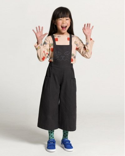 Cat Embroidered Jumpsuit