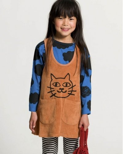 Cat Velour Tank Dress