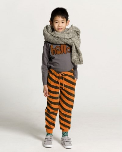 Stripes Orange Jogging Pant