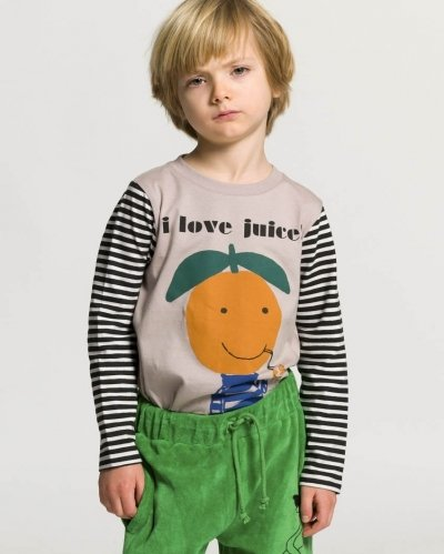 Camiseta Manga Larga Orange I Love Juice