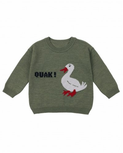 Dagmar The Duck Intarsia Jumper