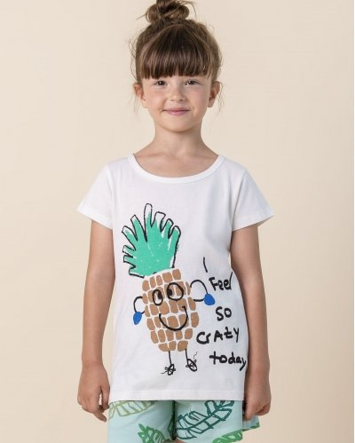 Camiseta Manga Corta Crazy Pineapple