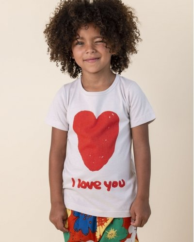 Camiseta Manga Corta I Love You