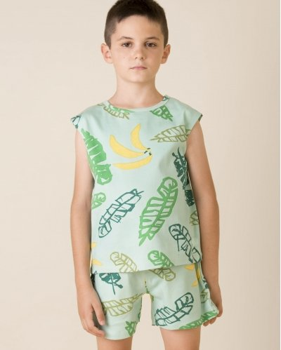 Camiseta Sin Mangas Banana Leaves