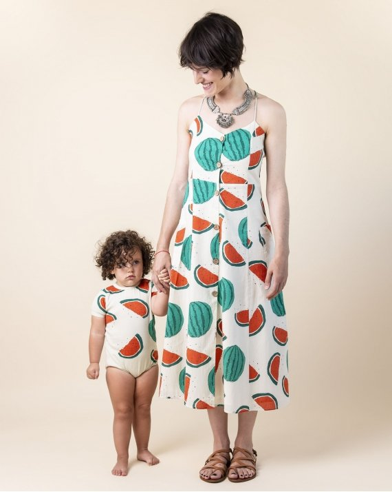 Dress Woman Wadi Watermelon
