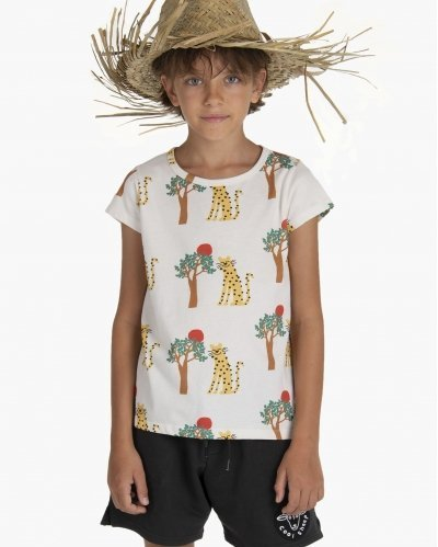 T-Shirt Leopard and Tree
