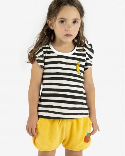 T-Shirt Stripes Black Ivory