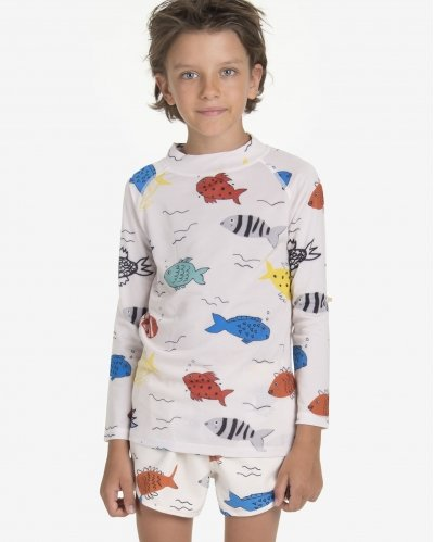 Camiseta De Baño Fishes in the River