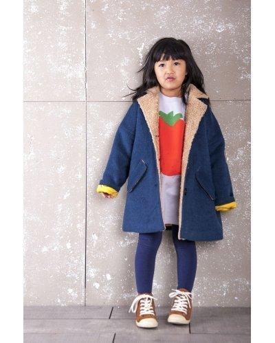 WOOLEN COAT OLIVE BLUE