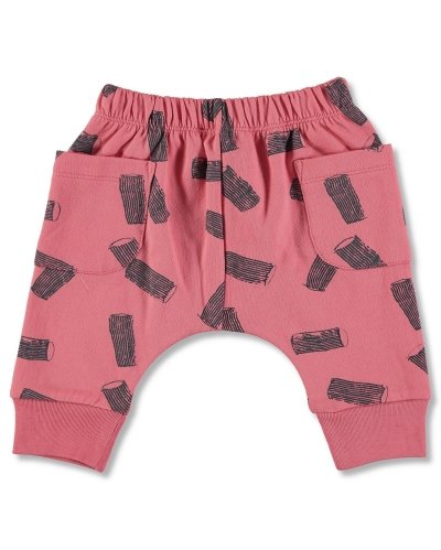 JOGGING PANT RED RIGATONI